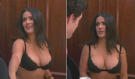 salma hayek no clothing